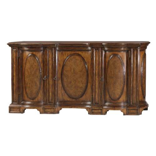 Theodore Alexander Classic yet Casual Oval-Panelled Buffet with 3 Doors