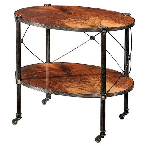 Theodore Alexander Essential TA Flame Bubinga Two Tiered Lamp Table