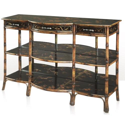 Theodore Alexander Indochine 3-Tier Console Table