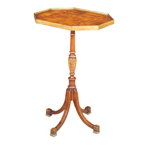 Theodore Alexander Tables Round Single Pedestal End Table