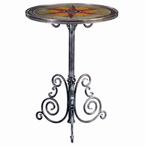 Theodore Alexander Tables Wrought Iron Lamp Table