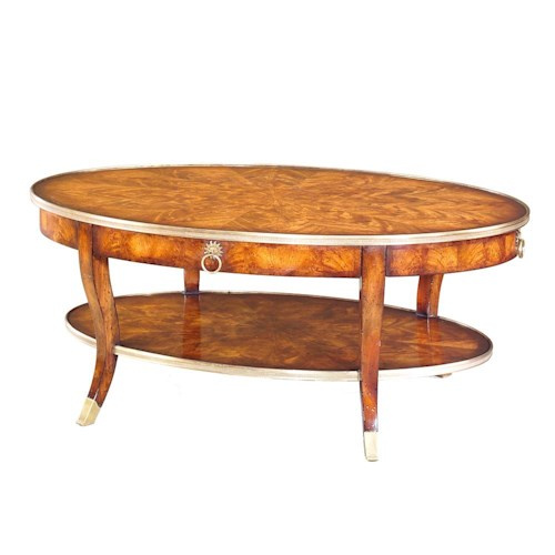 Theodore Alexander Tables Oval Cocktail Table