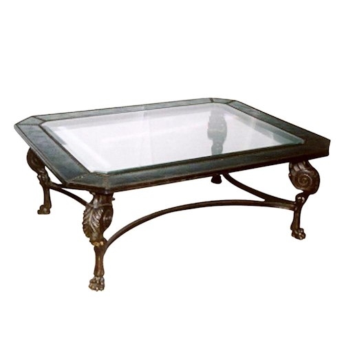 Theodore Alexander Tables Rectangular Glass Top Cocktail Table