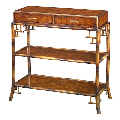 Theodore Alexander Tables 2 Drawer 3 Tier Sofa Table