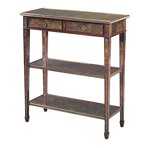 Theodore Alexander Tables Gilt Glass 3 Tier Sofa Table