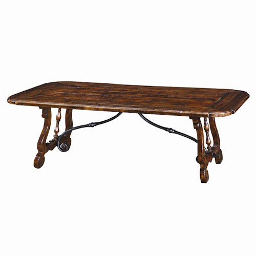Theodore Alexander Tables Traditional Rectangular Cocktail Table with Canted Corners