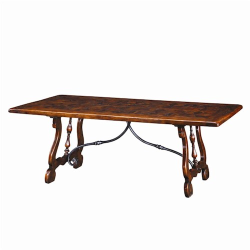Theodore Alexander Tables Traditional Rectangular Antiqued Wood Dining Table