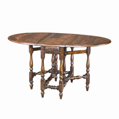 Theodore Alexander Tables Traditional Oval Antiqued Wood Dining Table
