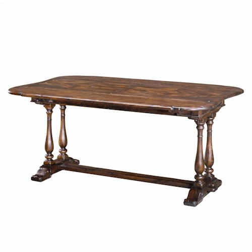 Theodore Alexander Tables Traditional Rectangular Drop Leaf Dining Table