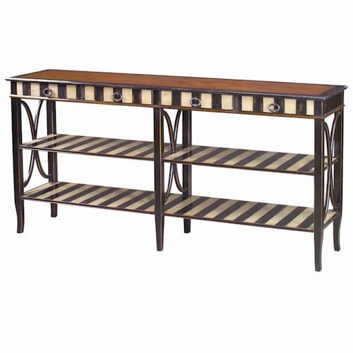 Theodore Alexander Tables 4 Drawer 4 Shelf French Provincial Sofa Table