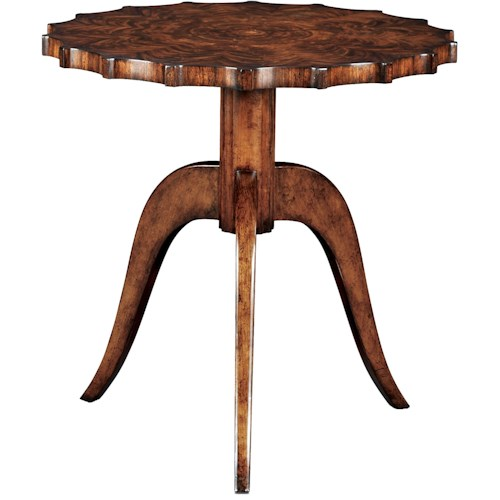 Theodore Alexander Vanucci Eclectics Modern Piecrust End Table