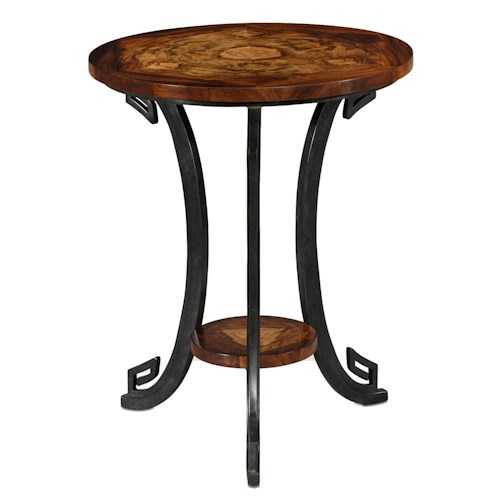 Theodore Alexander Vanucci Eclectics Verdigris Brass Lamp Table