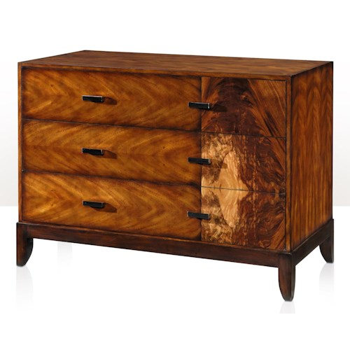 Theodore Alexander Vanucci Eclectics Walnut and Flame Bubinga Panel Chest