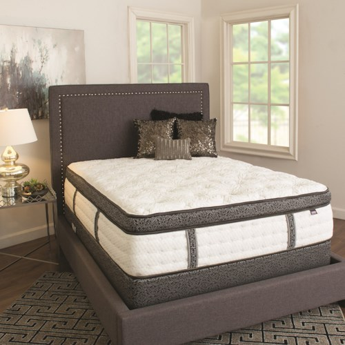 Therapedic Darvin Elite Luxury Collection Queen Elite Luxury Pillow Top, Coil on Coil Mattress and Heavy Wood Foundation