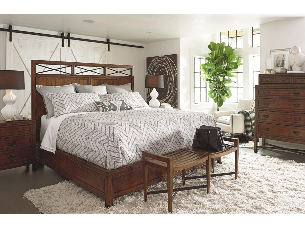Shown in Room Setting with Nightstand, Bench and Chest