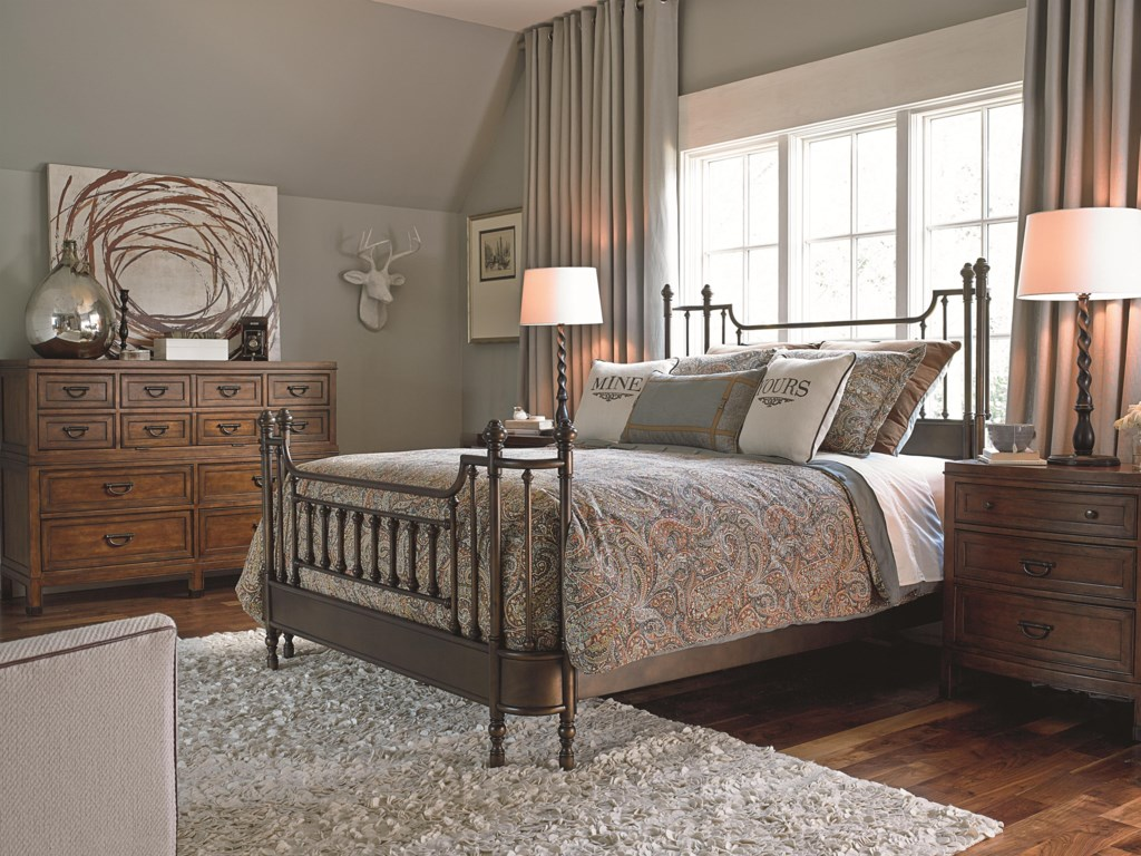 Shown in Room Setting with Dresser and Nightstand