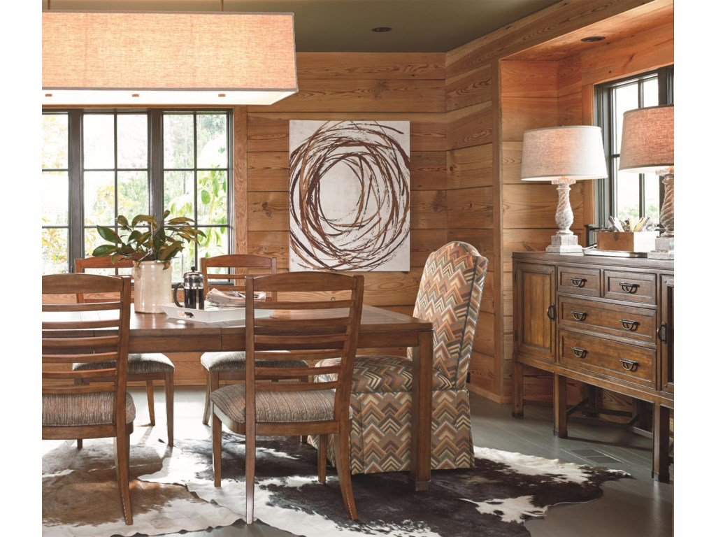 Shown in Room Setting with Sideboard and Side Chairs