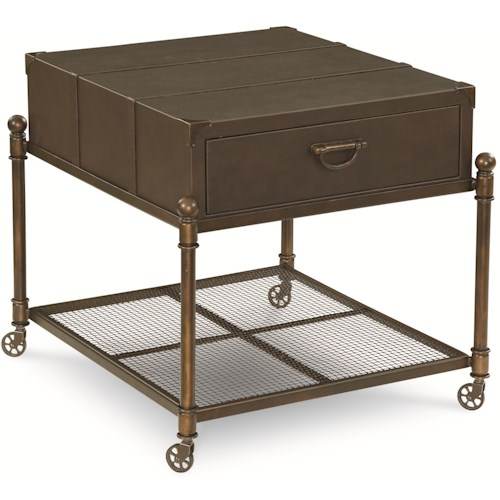 Thomasville® American Anthem Leather End Table w/ Casters