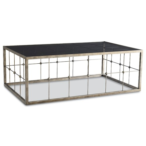Thomasville® Atomium Rectangular Cocktail Table with Inset Glass Top