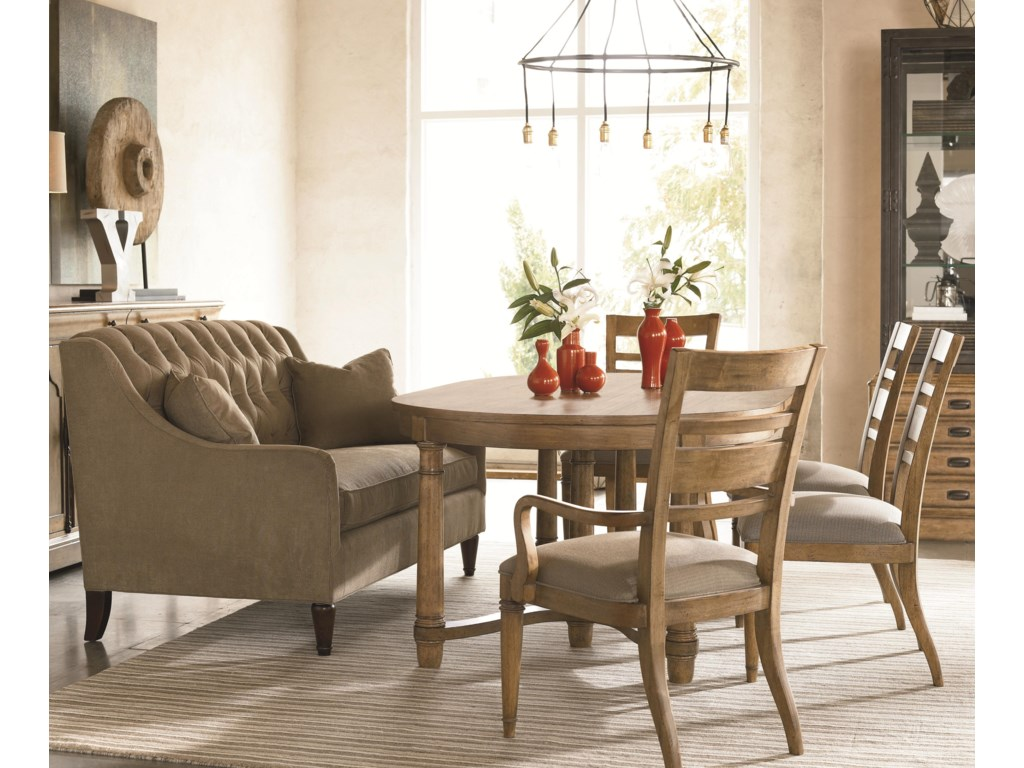 Shown as Table Seating with Coordinating Dining Room Collection