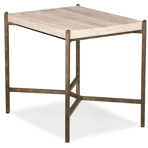Thomasville® Cachet End Table w/ Travertine Stone Top