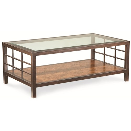 Thomasville® Canyon Grove Rectangular Coffee Table w/ Glass Insert Top
