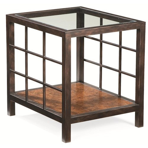 Thomasville® Canyon Grove End Table w/ Glass Insert Top