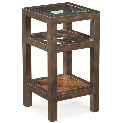 Thomasville® Canyon Grove Square Accent Table w/ Glass Insert Top