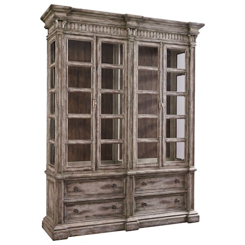 Thomasville® Casa Veneto Stella China Cabinet with Adjustable Shelving and LED Display Lights
