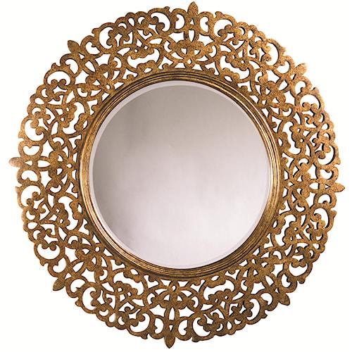 Thomasville® Cassara Round Mirror w/ Glass Plate