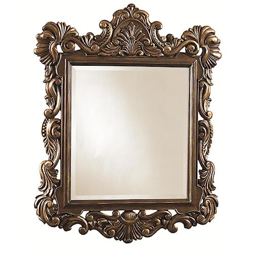 Thomasville® Cassara Mirror w/ Ornate Floral Motif
