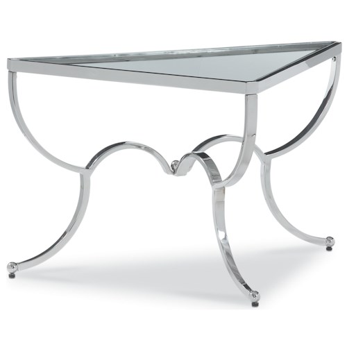 Thomasville® Chromatics Triangular Cocktail Table in Chrome Finish