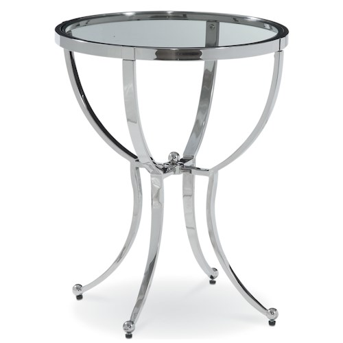 Thomasville® Chromatics Round Accent Table with High-Sheen Polished Stainless Steel