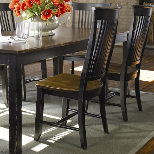 Thomasville® Color Café - Custom Dining Customizable Dining Side Chair with Slat Back