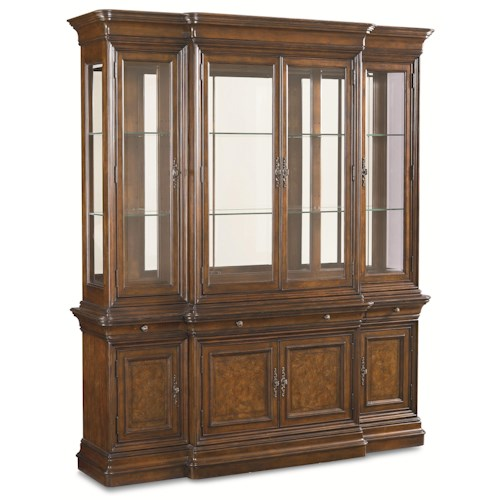 Thomasville® Deschanel China Cabinet w/ 3 Halogren Can Lights