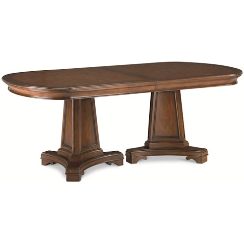 Thomasville® Deschanel Double Pedestal Table w/ 2 Extension Leaves