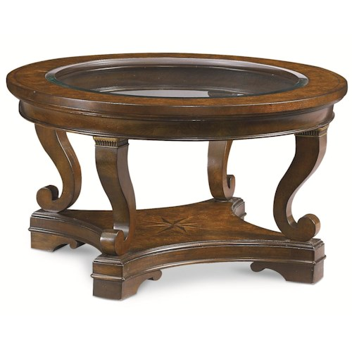 Thomasville® Deschanel Round Coffee Table w/ Glass Insert Top