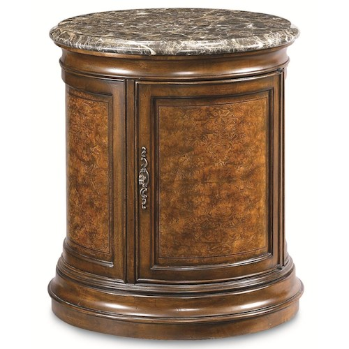 Thomasville® Deschanel Round Drum Table w/ Door