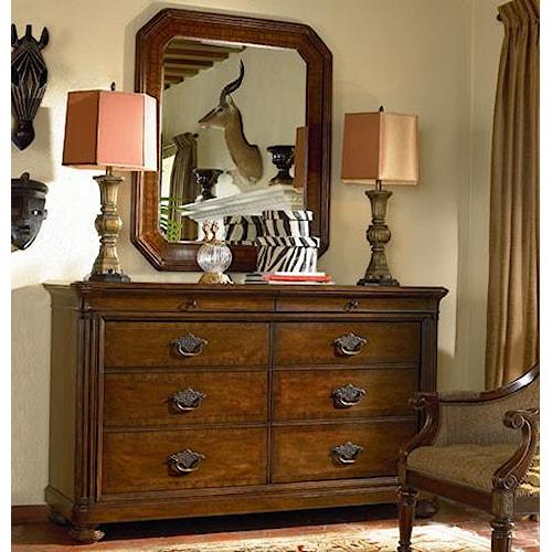 Thomasville® Ernest Hemingway  Malawi Dresser w/ Landscape Mirror