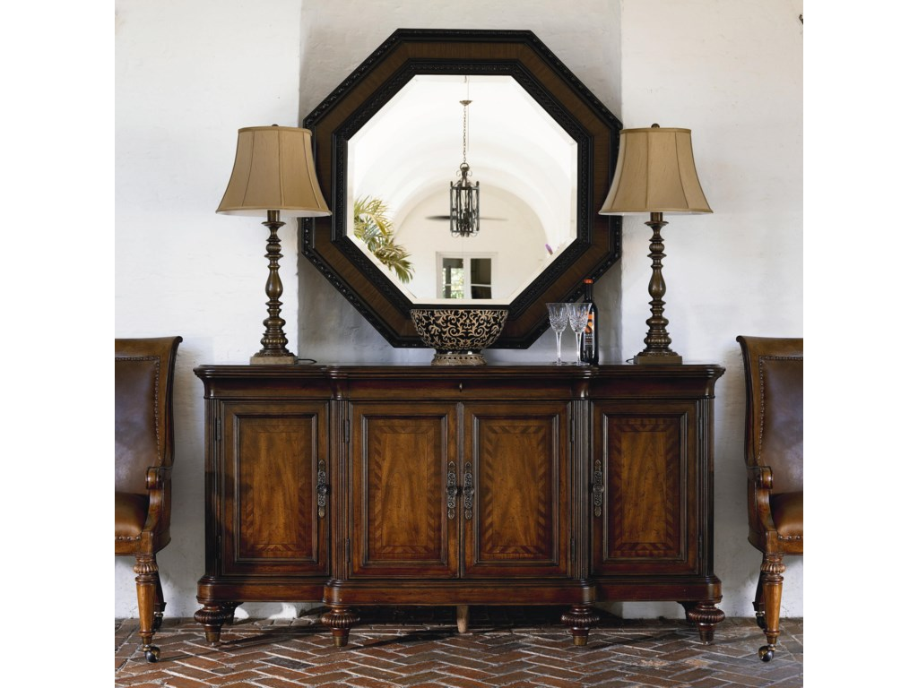 Preserve Buffet Shown with Steppe Octagonal Mirror