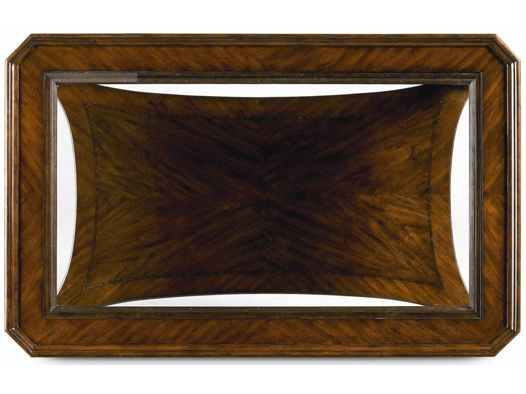Rectangular Table Top with Glass Insert