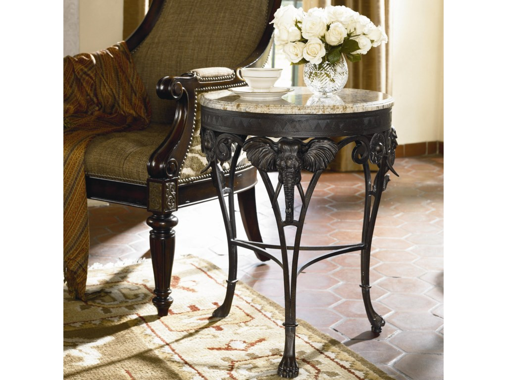 Elephant Accent Table Shown in Room Setting