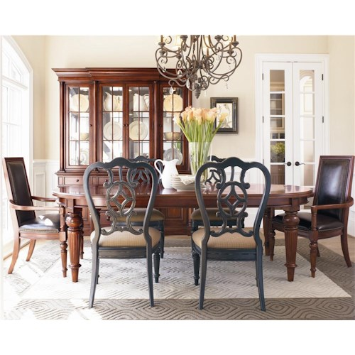 Thomasville® Fredericksburg Seven Piece Dining Set with Two 20 Inch Leaves