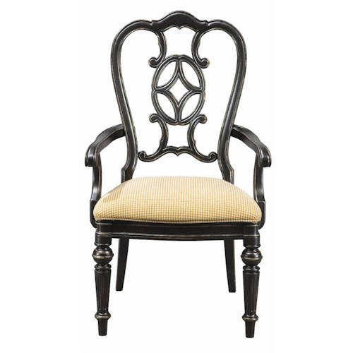 Thomasville® Fredericksburg Dining Arm Chair with Upholstered Seat