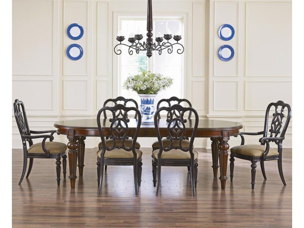 Shown with Matching Side Chairs and a Whiskey Finished Dining Table for an Eclectic Look