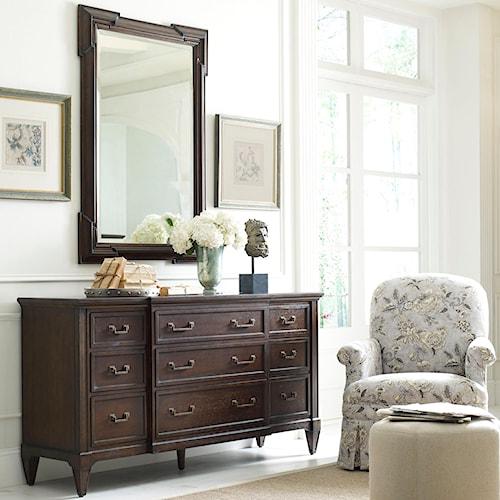 Thomasville® Harlowe & Finch Lacordia Nine Drawer Dresser and Granada Mirror Set