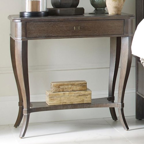 Thomasville® Harlowe & Finch Ludwig Bedside Table with Drawer and Storage Shelf