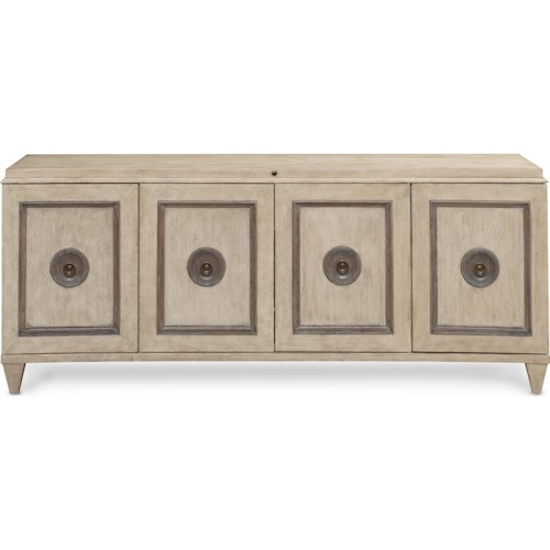 Thomasville® Harlowe and Finch Miramar Entertainment Console with Infrared Remote Sensor and Electrical Outlet
