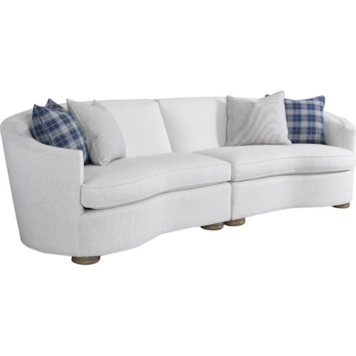 Thomasville® Isla Modern Two Piece Curve Sectional Sofa