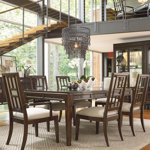 Thomasville® Lantau 7 Piece Dining Leg Table and Chair Set